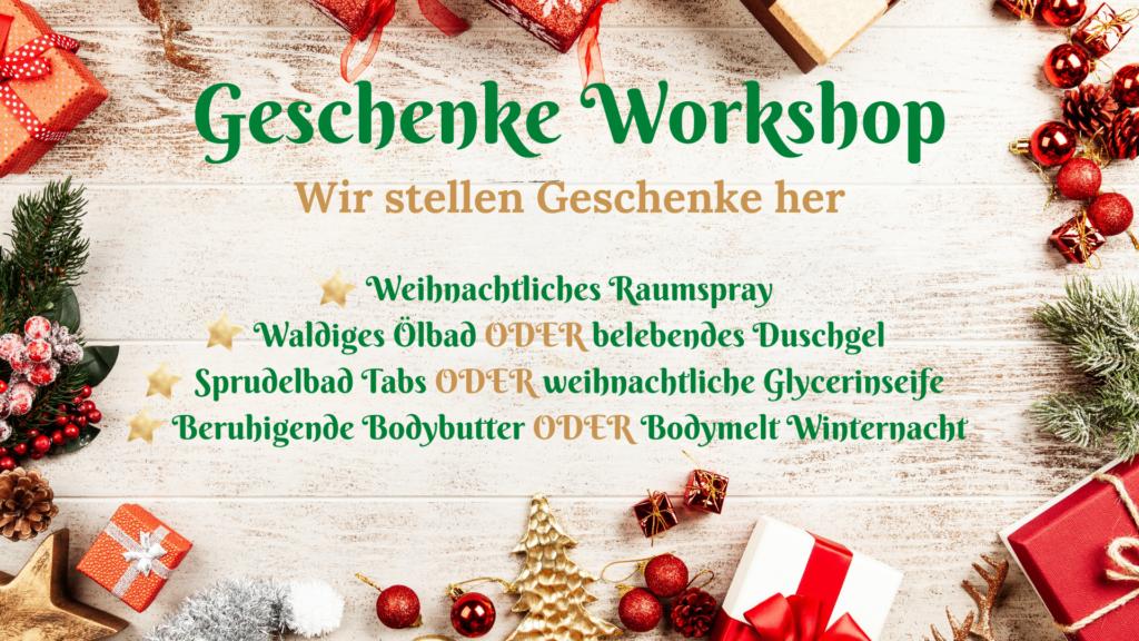 DIY Wohlfühl-Geschenke Workshop