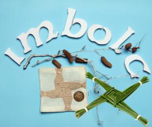 Imbolc DIY Brigid Kreuz basteln